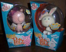 Rare - Bratz Petz - Cloe's Angel Pig & Sasha's Bunny Boo - New - Mint