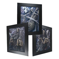 3 Dimension 3D Lenticular Picture Skull Cello Graveyard Tomb Bat Sickle Death