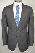 (40L) Vintage Men's Gray Classic Pinstripe Wool Flat Front 2 Piece Suit (36x30)