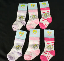 Lot 6 NOS Muppet Babies Miss Piggy Heart Socks XS 3 mos. - 1 yr NWT New w/Tags!