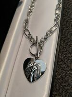 Personalised Guardian Angel  Heart Pendant Necklace Free Engraving Xmas gift