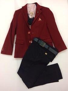 Romany Spanish Boys Dark Red Wine *CHRISTMAS* Spanish Suit Coat Set Age 5-12