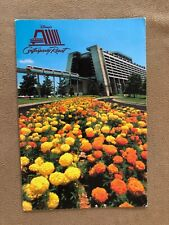 Disney World Postcard Contemporary hotel orange flower bed vintage