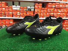 New Diadora Maracana L Black / Yellow Soccer FG Cleats Size 9.5 NWOB