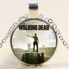 New Cabochon Glass Silver/Bronze/Black Chain Pendant Necklace(Walking Dead)