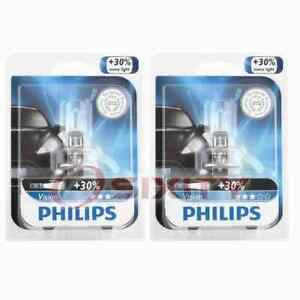2 pc Philips Front Fog Light Bulbs for Mercury Marauder Monterey 2003-2007 te