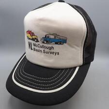 Vintage McCullogh Basin Services Mesh Adjustable Snapback Trucker Hat Cap
