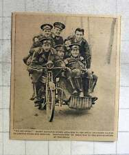 1915 7 Happy Dispatch Riders Attached Royal Engineers Packed Into Motorcycle Sid