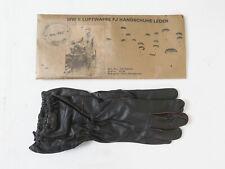 WW2 Wehrmacht Fallschirmjäger Leder Handschuhe braun FJ Luftwaffe Gr.III (10)