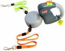 Wigzi Dual Retractable Dog leash with Innovative Gel Handle