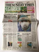 *PANDEMIC VIRUS UK LOCKDOWN THE SUNDAY TIMES NEWSPAPER 29TH MARCH 2020*
