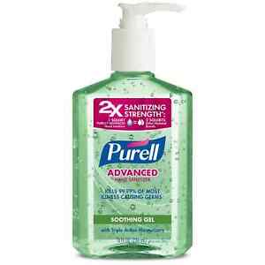 PURELL Advanced Soothing Gel with Aloe Hand Sanitizer - 8oz w/ Pump (Pack of 4)