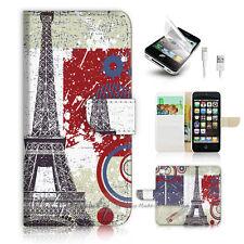 ( For iPhone 5 / 5S / SE ) Wallet Case Cover! P0639 Paris Eiffel