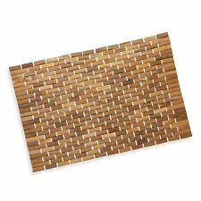 Luxurious Bamboo Bath Mat For Shower, Bath, Spa Or Sauna 27x19 Large By