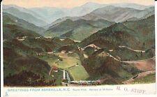 Early 1900's Round Knob, Railroad at 18 Points near Asheville, North Carolina PC