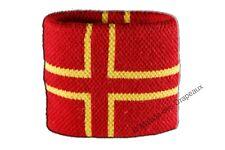Serre-poignet bracelet éponge tennis France Normandie Croix de Saint Olaf 7x8cm