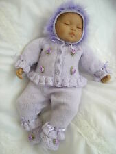 "BABY DOLL KNITTING PATTERN FOR A CARDIGAN SET 20""- 22"" DOLL 0-3 MONTH BABY"