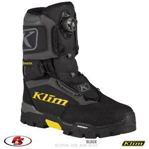 NEW KLIM Klutch GTX BOA Snowmobile Gore-tex Boot - Black - Size 9, Motorcycle