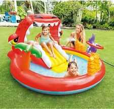 Piscina feliz Dino Dinosaurio Inflable Play Center remar Agua Jardín