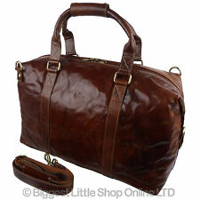 Mens Large Buffalo Leather Holdall Travel Bag by Rowallan of Scotland Boston
