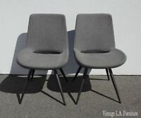 Pair of Gray Mid Century Style Mobital Accent Chairs