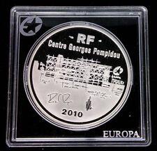 FRANCE - 10 EURO EN ARGENT 2010 - PROOF - CENTRE POMPIDOU - RARE!!!!