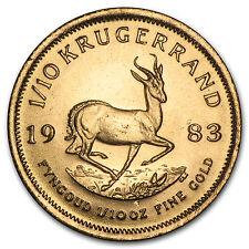 1983 South Africa 1/10 oz Gold Krugerrand - SKU #89278