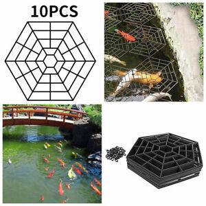 10 Stück Teich-Schutzgitter Zubehör Kit Teichgitter Teichschutz Schützt Fische
