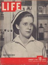 LIFE January 5,1942 Wanted 50,000 Nurses / War in the Pacific / Manila, Singapor
