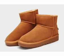 Flat (0 to 1/2 in.) Suede Medium (B, M) Slip On Boots for Women