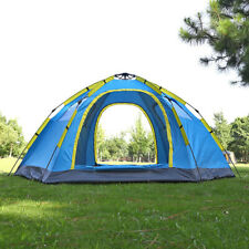 6-8 Person Automatic Travel Tent 2 Door 4 Window Mongolian Family Party Camping
