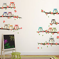 Owl Numbering Mural Decoration Décalque Nursery type Wall Stickers 125 cm x 95 cm
