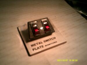 Vintage NOS Metal 2 Switch Panel Underdash Control Mounting Plate WITH SWITCHES!