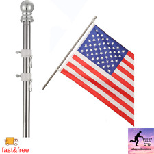 Details about Cocohome Flag Pole - 7Ft Spinning Flagpole Kit For House Garden Y