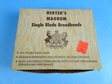 New listing HERTERS MAGNUM SINGLE BLADE BROADHEADS 140 GRAIN. NOS!