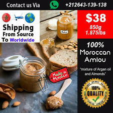 100% Moroccan Amlou 850g 1.87lbs , Made by Argan oil & Almonds / Homemade
