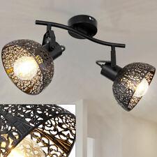 Decken Leuchte Käfig Spot Strahler Leiste verstellbar Wohn Zimmer Lampe schwarz