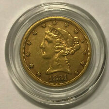 1881,gold coin,U.S.,half eagle,$5,dollar,lovely,AU,condition,bullion,Liberty,pr
