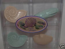Gift Set of 4 Sea Shell Decorative Soaps