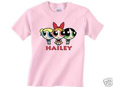 NEW PERSONALIZED THE POWERPUFF GIRLS PINK T SHIRT #2 Blossom Buttercup Bubbles