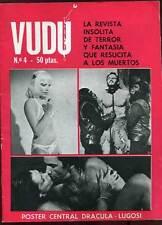 REVUE  EN ESPAGNOL: VUDU N°4. ABRIL 1975.