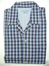 NAUTICA Sleepwear Mens Sz M Woven Pajamas Top J. Navy NWT $36