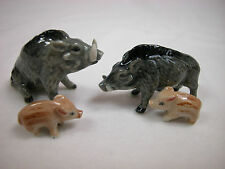 Porcelain Miniature Animal Wild Life Jungle Wild Pig Warthog #124
