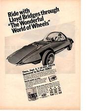 1966 WONDERFUL WORLD OF WHEELS TV SHOW WITH LLOYD BRIDGES ~ ORIGINAL PRINT AD