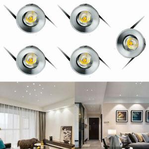 5/10x 1W LED Spot de Plafond Mini Spot Encastrable Plafonnier Lampe Chambre 220V