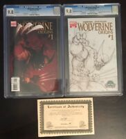 WOLVERINE ORIGINS #1(2006)MICHAEL TURNER VARIANT DF COA 1:130 CGC 9.8+SKETCH LOT