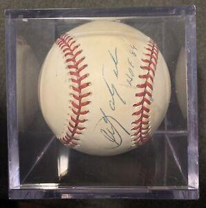 "CARL YASTRZEMSKI - SIGNED MLB RAWLINGS BASEBALL ""HOF 89"""