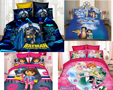 Disney Cartoon Super Hero Princess Bedding Set Bed Sheet Pillow Case 3Pcs Set
