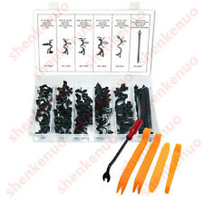 54pc Car Body Wire Harness Routing Clip Convoluted Assortment Kit+TOOL