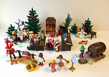 Playmobil Christmas Tavern Workshop Stable Mrs Santa Elves pig BBQ pump snowman